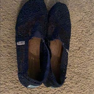 Toms blue flat shoes